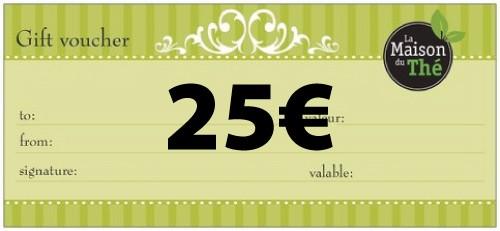 Geschenkgutschein im Wert von 25€