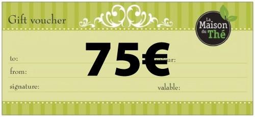 Geschenkgutschein im Wert von 75€